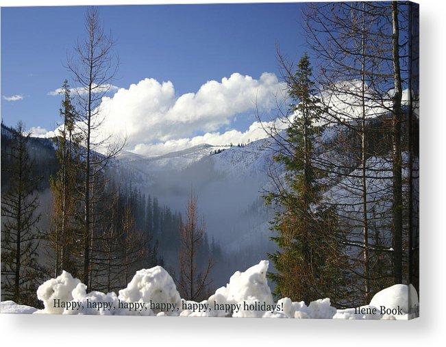 Holiday Acrylic Print featuring the photograph Happy X6 by Ilene Book