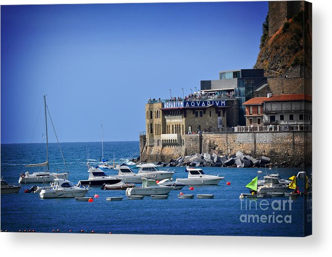 Harbor Acrylic Print featuring the photograph Harbor - North Coast Of Spain by Mary Machare