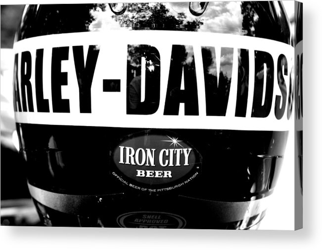Harley Acrylic Print featuring the photograph Harley And Beer by Kenneth Mucke