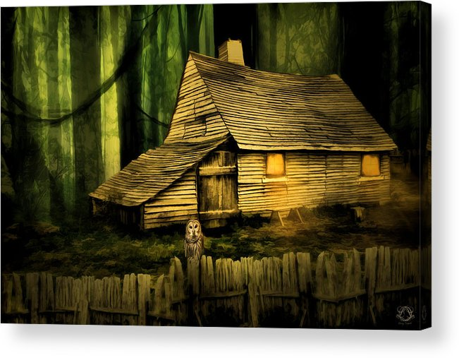 Haunted Barn Acrylic Print featuring the photograph Haunted Shack by Lourry Legarde