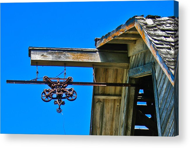 Old Barn Acrylic Print featuring the photograph Hay Loft by Larry Headley