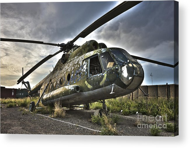 Helicopter Acrylic Print featuring the photograph Hdr Image Of An Afghanistan National by Terry Moore