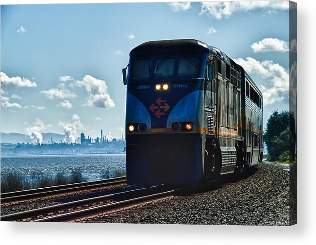 Landscape Acrylic Print featuring the photograph Heading For The City by James Menke