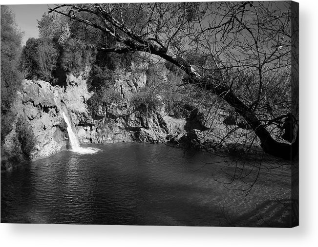 Jezcself Acrylic Print featuring the photograph Hidden Falls by Jez C Self
