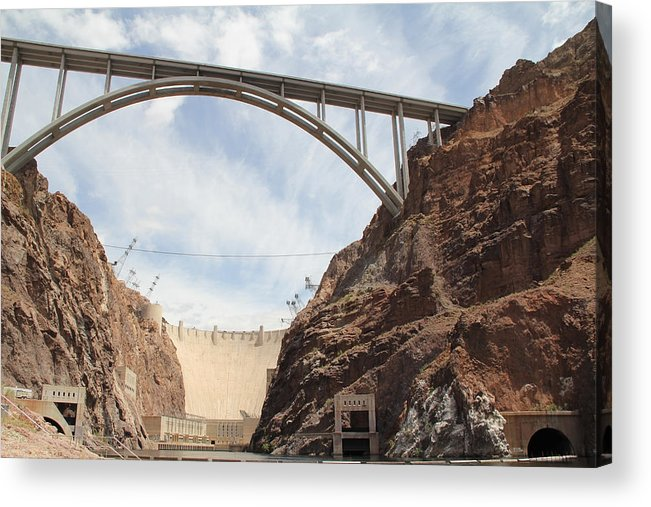 Aerial Acrylic Print featuring the photograph Hoover Dam by Kim French