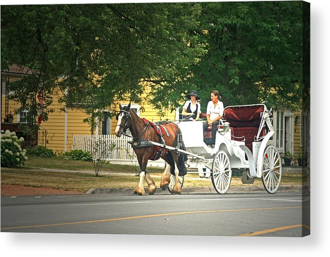 Horse & Carriage Acrylic Print featuring the photograph Horse And Carriage by Cyryn Fyrcyd