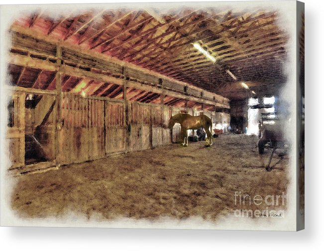 Horse Barn Acrylic Print featuring the photograph Horse Barn Barbour County by Dan Friend