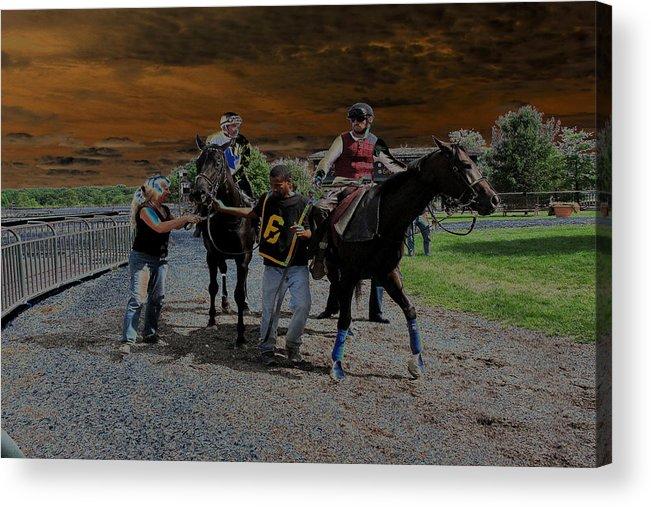 Horse Acrylic Print featuring the digital art Horses 001 by Dorin Adrian Berbier