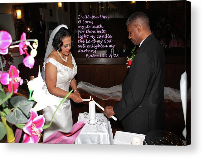 Wedding Acrylic Print featuring the photograph I Will Love Thee by Terry Wallace