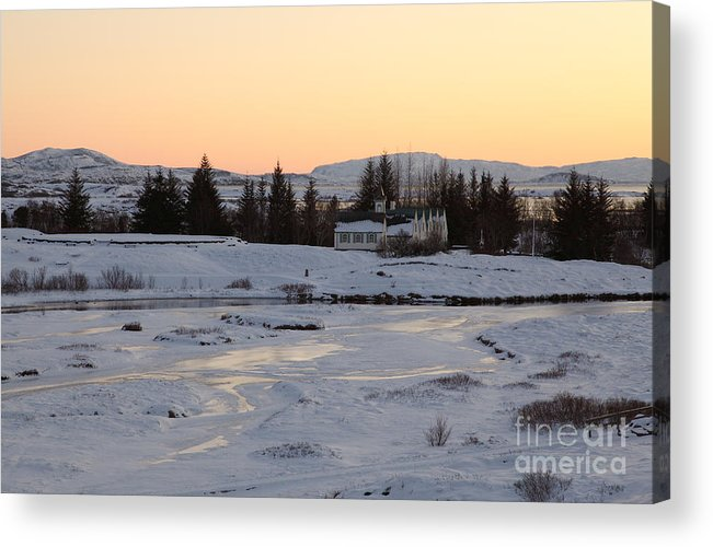 Iceland Acrylic Print featuring the photograph ice by Milena Boeva