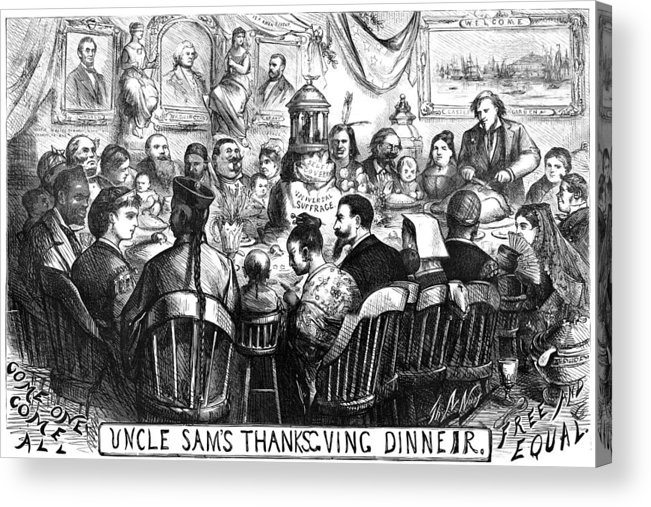 1869 Acrylic Print featuring the photograph Immigration Cartoon, 1869 by Granger