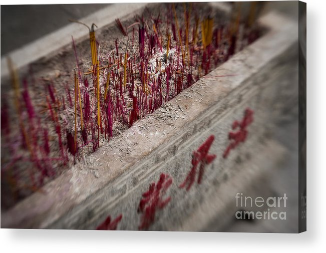 Belief Acrylic Print featuring the photograph Incense by Venetta Archer