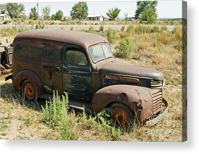Truck Acrylic Print featuring the photograph Independent Dairy Delivery by Bob and Nancy Kendrick