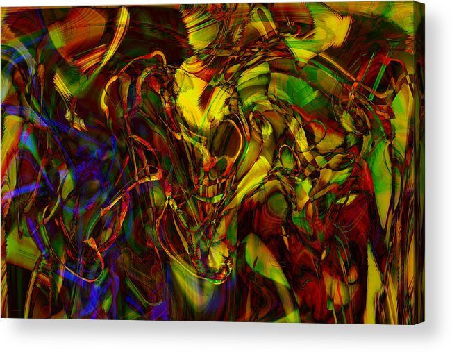 Abstract Acrylic Print featuring the digital art Injections by Linda Sannuti