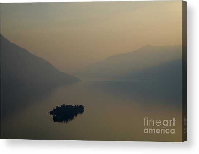 Island Acrylic Print featuring the photograph Islands And Orange Sky by Mats Silvan