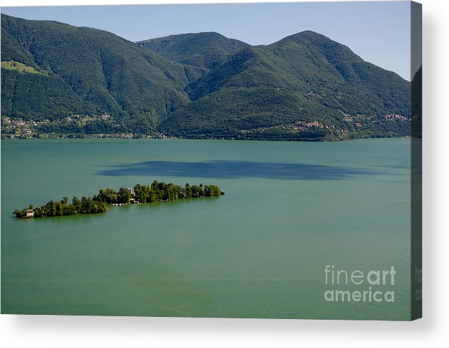 Island Acrylic Print featuring the photograph Islands On An Alpine Lake With A Shadow by Mats Silvan
