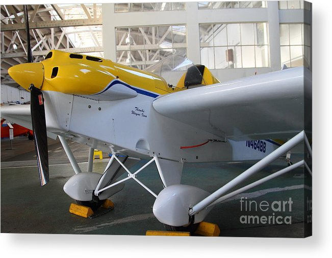 Airplane Acrylic Print featuring the photograph Jdt Mini Max 1600r . Eros . Single Engine Propeller Kit Airplane . 7d11169 by Wingsdomain Art and Photography