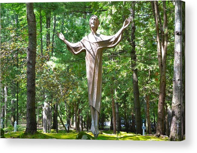Jesus Acrylic Print featuring the photograph Jesus Statue by Ted Kitchen