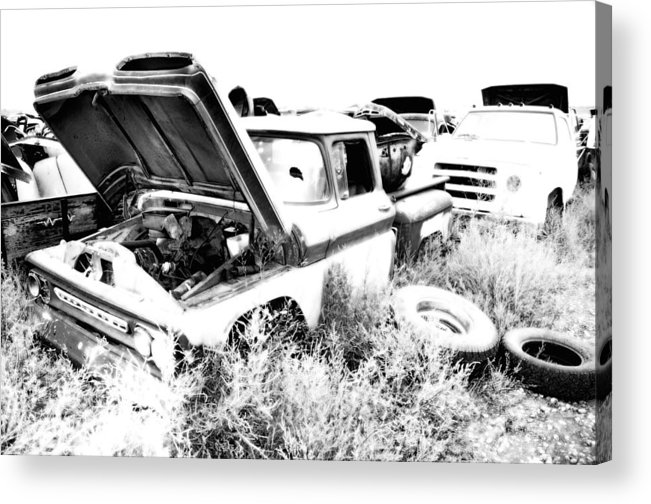 Truck Acrylic Print featuring the photograph Junkyard Infrared 2 by Matthew Angelo