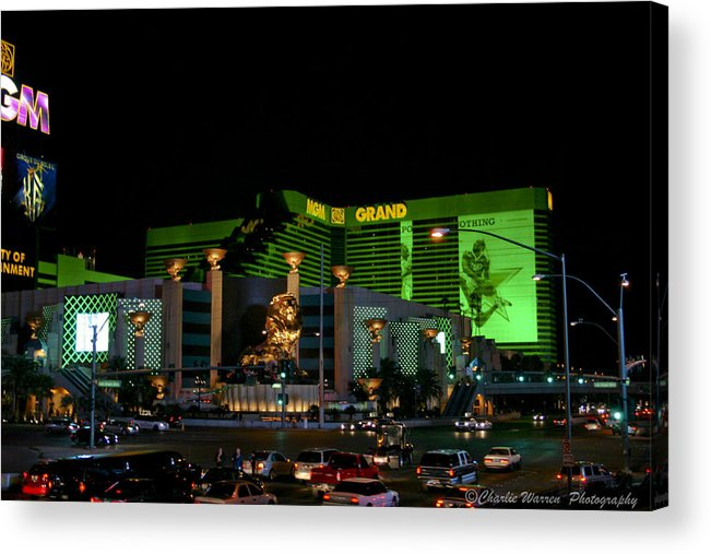 Las Vegas Acrylic Print featuring the photograph Just Grand by Charles Warren