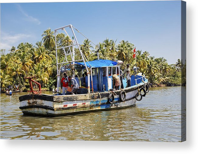 Interesting Acrylic Print featuring the photograph Kerala Queen by Kantilal Patel