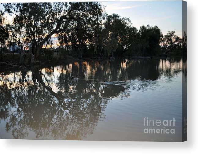 Lagoon Acrylic Print featuring the photograph Lagoon At Dusk by Joanne Kocwin