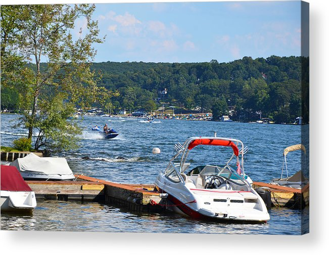 Freshwater Acrylic Print featuring the photograph Lake Living 1 by Maureen E Ritter