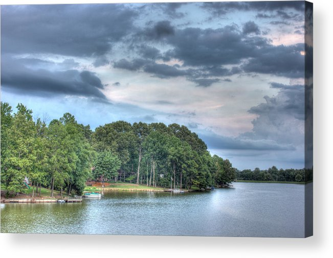 Trees Acrylic Print featuring the photograph Lakeside 2 by Barry Jones