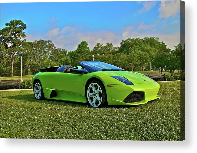 Lamborghini Murcielago Convertible Acrylic Print By Mike Capone