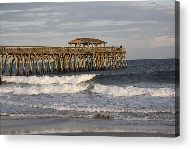Landscape Acrylic Print featuring the photograph Late Afternoon At The Pier by Jackie Briggs