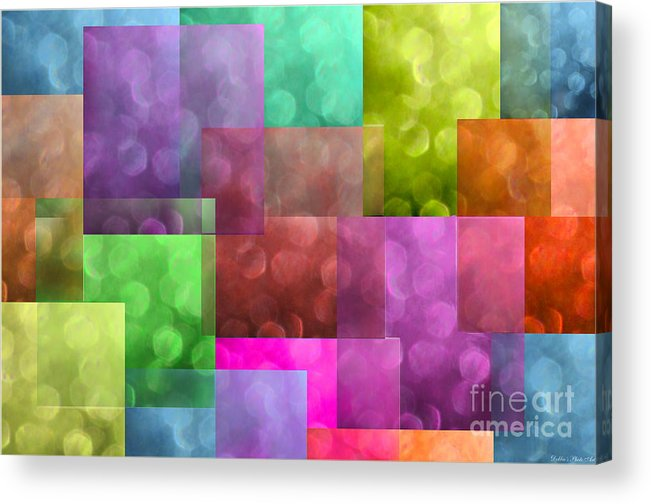 Abstract Acrylic Print featuring the photograph Layered Tiles Abstract by Debbie Portwood