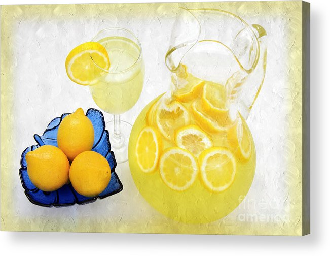 Lemonade Acrylic Print featuring the photograph Lemonade And Summertime by Andee Design