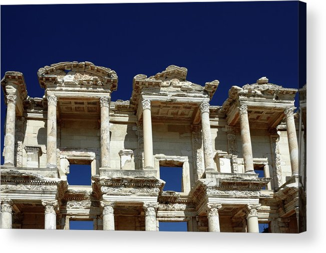 Library Of Celsus Acrylic Print featuring the photograph Library Of Celsus In Ephesus by Sally Weigand