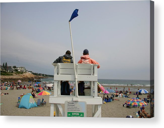 North America Acrylic Print featuring the photograph Lifeguards Watch Over The Traditional by Stephen St. John