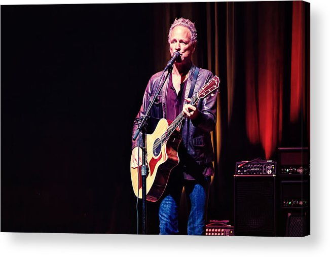 Lindsey Buckingham Acrylic Print featuring the photograph Lindsey Buckingham In Concert by Marc Parker