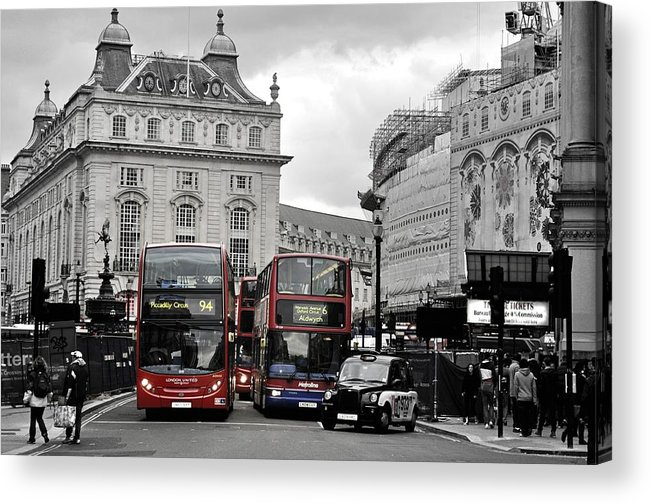 Acrylic Print featuring the photograph London Buses by Andres LaBrada