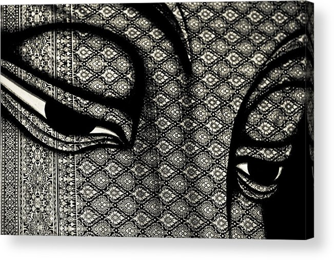 Abstract Acrylic Print featuring the photograph Lord Buddha by Natapol Chananuwong
