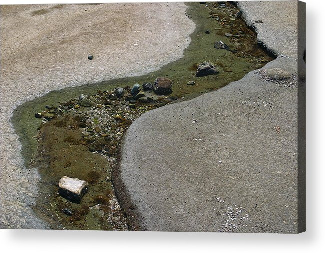 Water Acrylic Print featuring the photograph Low Tide Water 3 by David Kleinsasser
