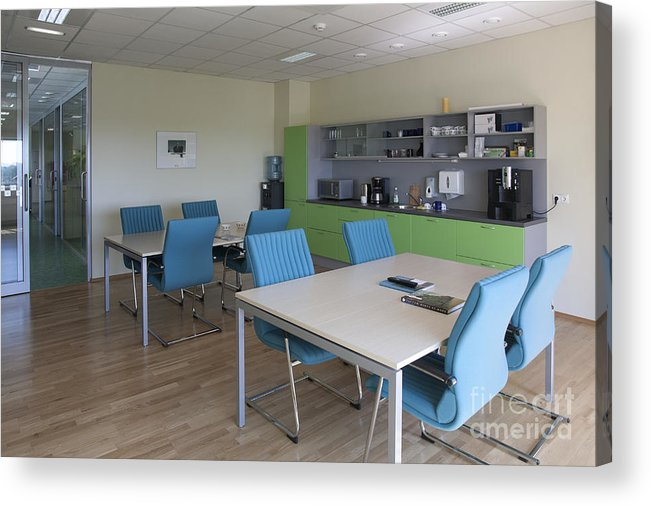 Architecture Acrylic Print featuring the photograph Lunch Room by Jaak Nilson