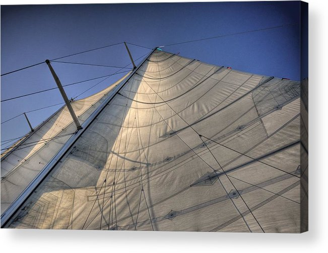 Live Life's Adventures Acrylic Print featuring the digital art Main Sail by Barry R Jones Jr