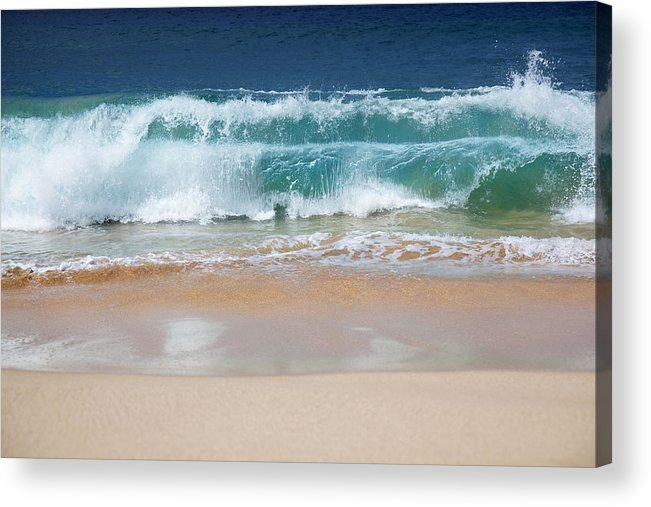 Beach Acrylic Print featuring the photograph Makena Waves by Jenna Szerlag