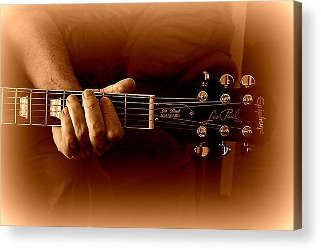 Guitar Acrylic Print featuring the photograph Makin' Music by Jacqui Kilcoyne