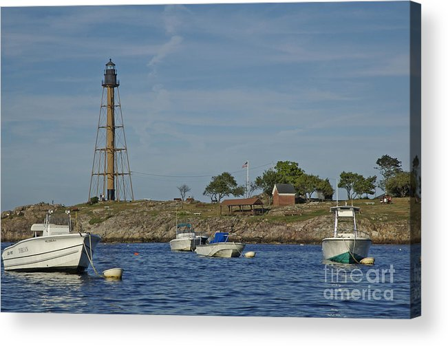 Lighthouse Acrylic Print featuring the photograph Marblehead Lighthouse From The Water by Ruth H Curtis