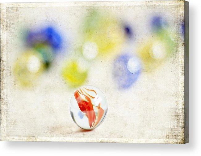 Abstract Acrylic Print featuring the photograph Marbles by Darren Fisher