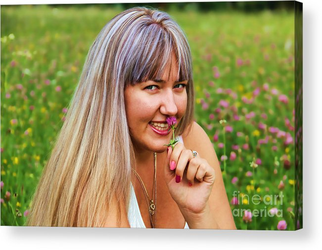 Meadow Fairy Acrylic Print featuring the photograph Meadow Fairy by Mariola Bitner