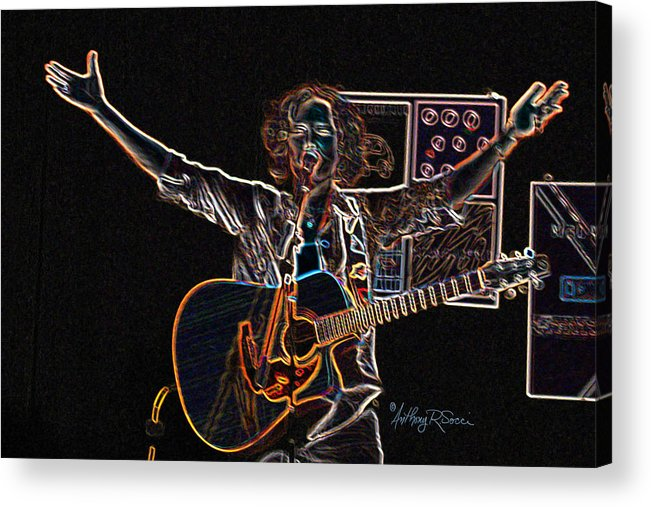 Music Acrylic Print featuring the photograph Melanie's Musical Message by Anthony R Socci