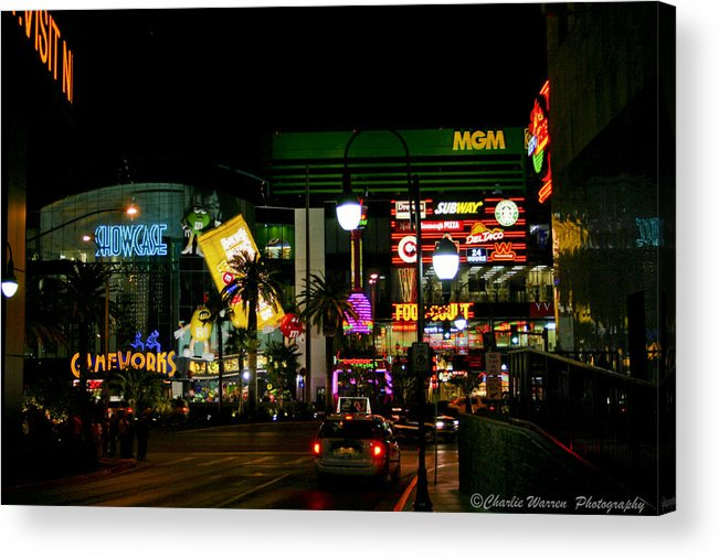 Las Vegas Acrylic Print featuring the photograph MGM by Charles Warren
