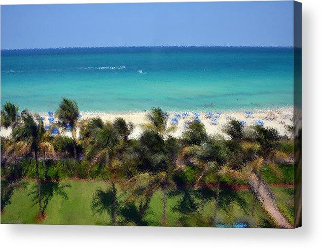 Miami Acrylic Print featuring the photograph Miami Beach by Pravine Chester