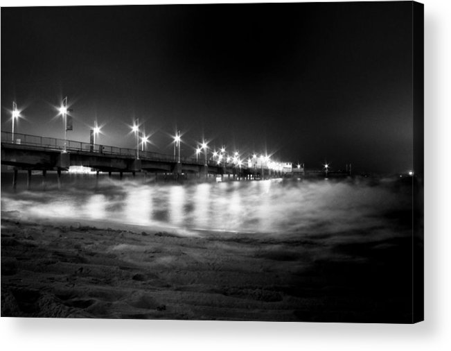Low Key Acrylic Print featuring the photograph Mid-night Mist by Cesar Ponce