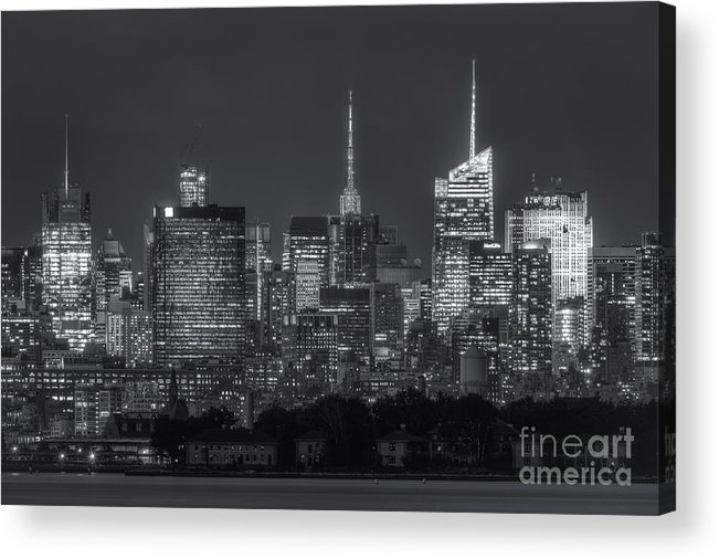 Clarence Holmes Acrylic Print featuring the photograph Mid-town Manhattan Twilight II by Clarence Holmes